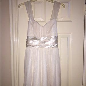 Trixxi White Glitter Cocktail Dress